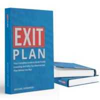Exit Plan - 3 books with two on top of one another