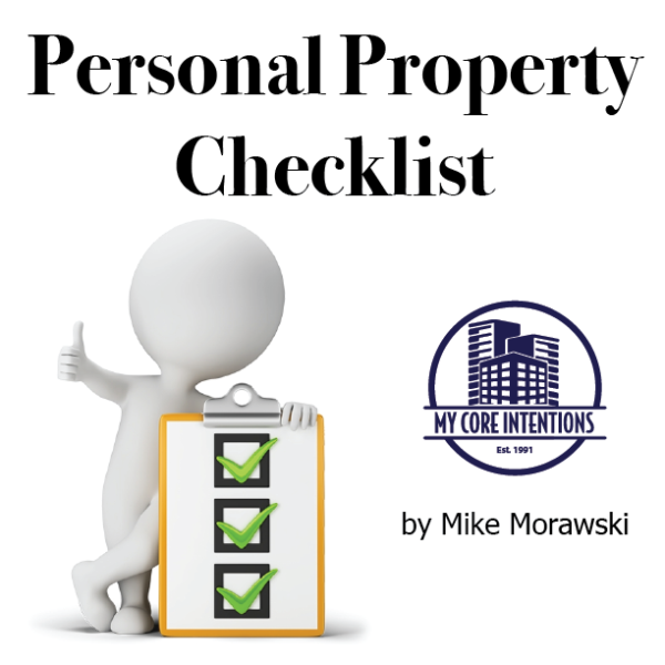 Personal Property Checklist by Mike