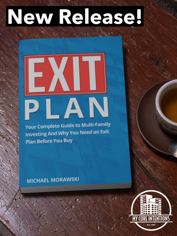 Exit Plan placed on a wooden table
